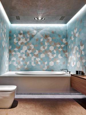 现代风格精致卫生间瓷砖装修效果图赏析
