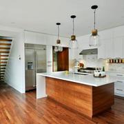 现代风格复式楼室内开放式厨房装修效果图鉴赏