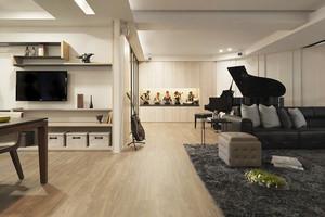 89平米现代风格灰色系三室两厅室内装修效果图