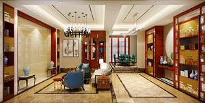 160平米中式风格复式楼室内装修效果图赏析