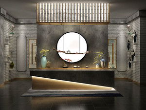 中式风格古典雅致中餐厅装修效果图