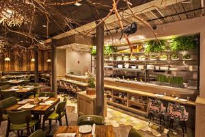 120平米中式风格精致中餐厅装修效果图