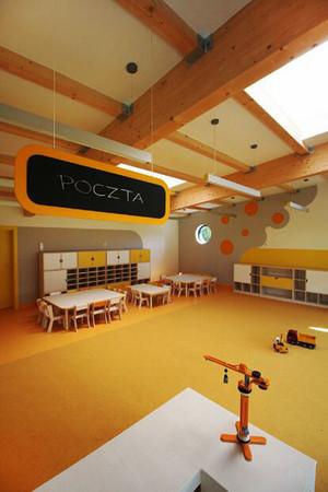 74平米现代简约风格幼儿园教室装修效果图