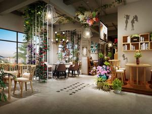 宜家风格温馨自然咖啡厅装修效果图