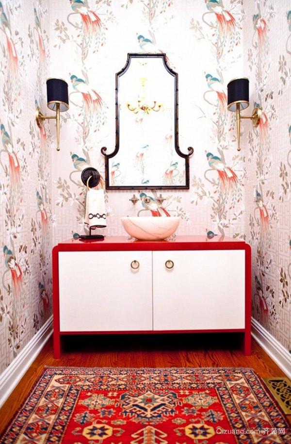 现代风格精美红色卫生间装修效果图大全