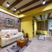 混搭风格精致客厅背景墙装修效果图赏析