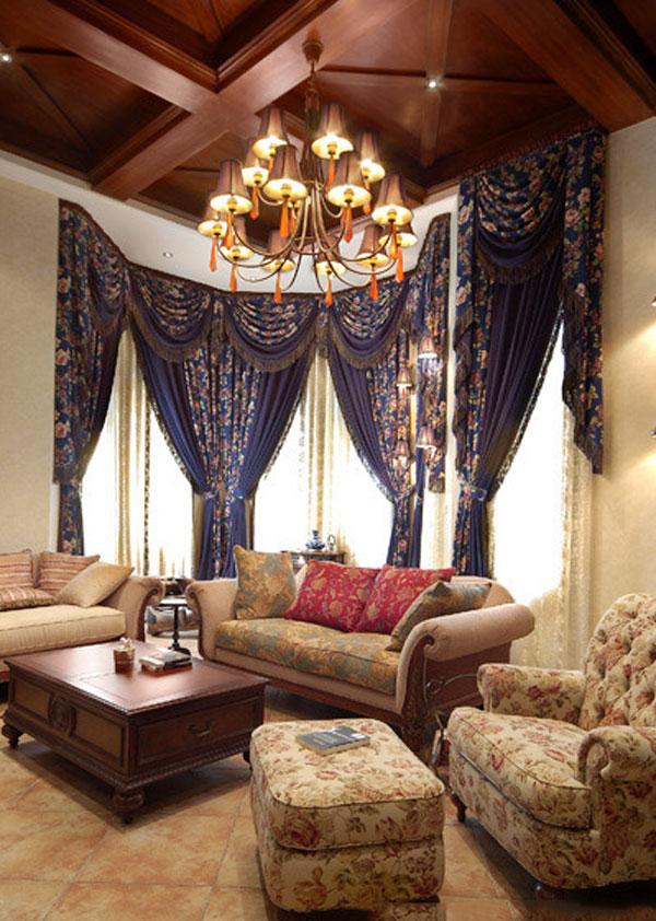 328平米美式风格精致别墅室内装修效果图案例