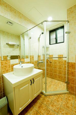 77平米田园风格清新自然一居室室内装修效果图