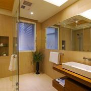 现代风格简单卫生间淋浴房装修效果图