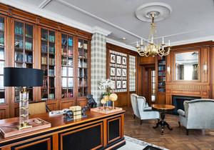 新古典主义风格别墅室内书房装修效果图赏析
