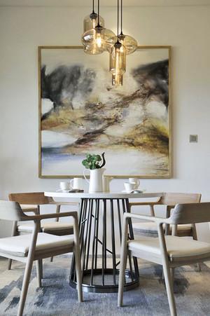 新中式风格精致餐厅背景墙组昂修补效果图