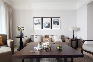 90平米新中式风格恬淡室内装修效果图赏析