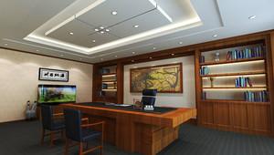 中式风格老总办公室装修效果图