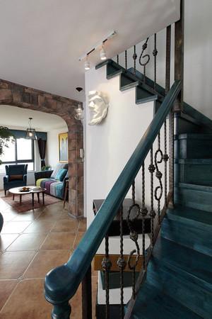 160平米混搭风格时尚文艺复式楼室内装修效果图