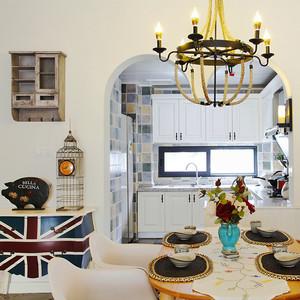 简约美式风格精装三室两厅室内装修效果图案例