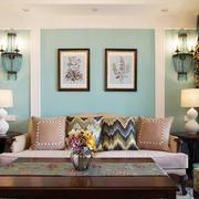 简约美式风格精美客厅背景墙装修效果图鉴赏