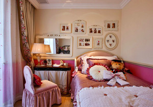 12平米欧式风格精致儿童房装修效果图赏析