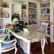 欧式风格精致浅色书房设计装修效果图赏析