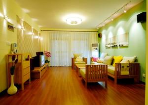 72平米清新风格简约一居室装修效果图案例