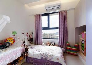 106平米田园风格清新三室两厅室内装修效果图案例