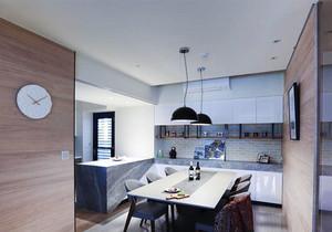 现代风格小户型厨房餐厅一体装修效果图赏析