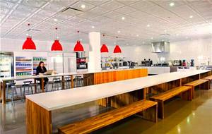 60平米现代风格办公室餐厅装修效果图