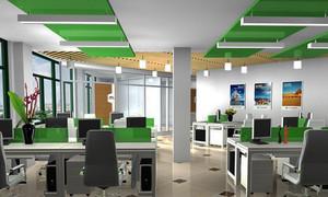 现代简约风格小型办公室吊顶装修效果图