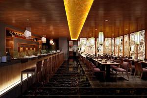 140平米中式风格中餐厅装修效果图