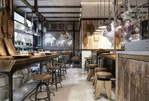 90平米乡村风格创意餐厅装修效果图