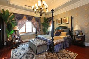 美式乡村风格大户型主卧室装修效果图