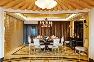 欧式风格大户型精致餐厅吊顶设计装修效果图
