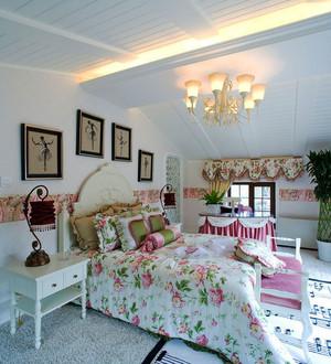 欧式田园风格大户型精致卧室装修效果图赏析
