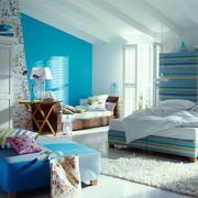清新风格阁楼卧室装修效果图欣赏