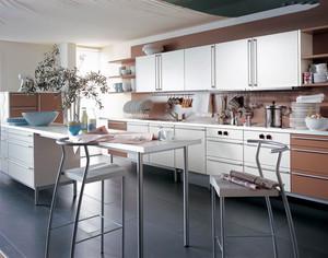 现代风格简约厨房餐厅一体装修效果图欣赏