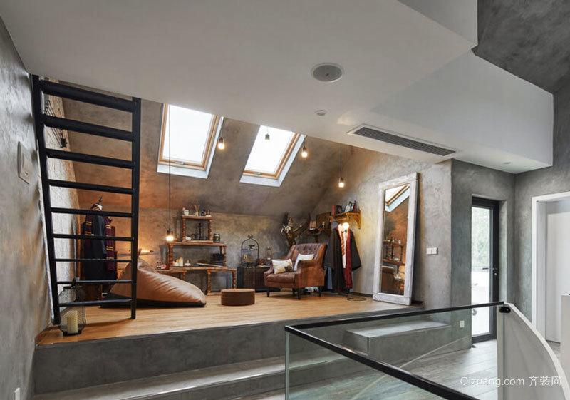 现代风格斜顶阁楼设计装修效果图欣赏