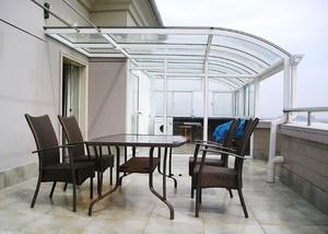 现代风格大户型精致露天阳台装修效果图