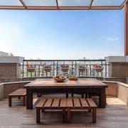 中式风格露天阳台设计装修效果图赏析