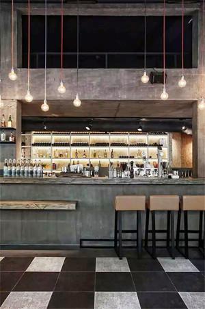 后现代风格创意酒吧吧台设计装修效果图