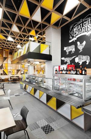 现代简约风格时尚咖啡厅装修效果图