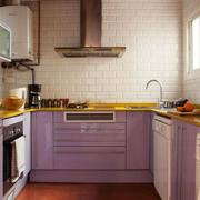 混搭风格暖色系厨房装修效果图鉴赏