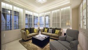 129平米简欧风格精致三室两厅室内装修效果图