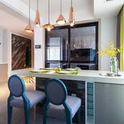 现代简约风格时尚创意厨房吧台装修效果图