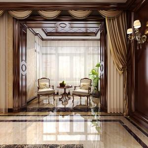 145平米美式风格精致大户型室内装修效果图