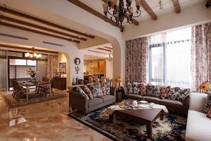 150平米美式乡村风格大户型精致室内装修效果图