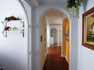 欧式田园风格轻松温馨两室两厅室内装修效果图