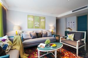 清新风格时尚小户型客厅装修效果图欣赏