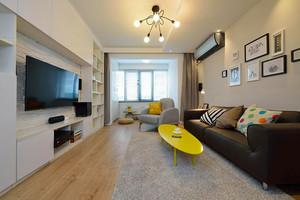 79平米现代风格时尚创意两室一厅装修效果图赏析