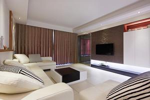 宜家风格简约温馨两室两厅室内装修效果图案例