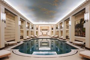 300平米简欧风格酒店游泳池装修效果图