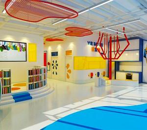 现代简约风格时尚创意幼儿园环境布置装修图